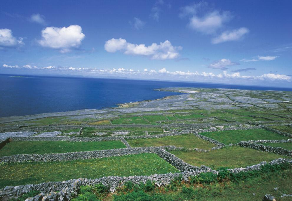 View of one of the Aran Islands