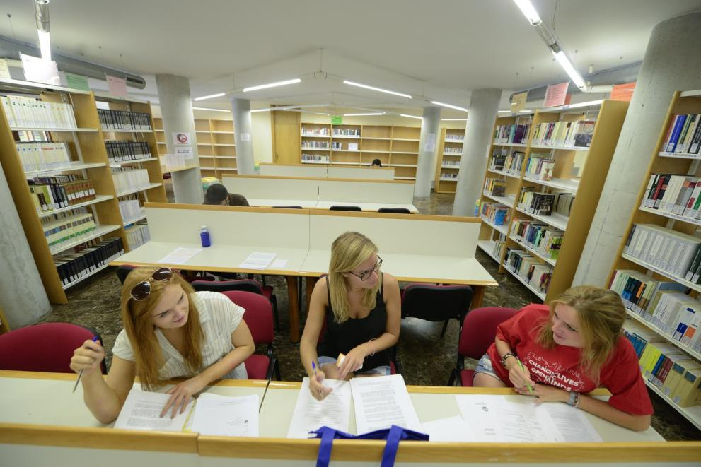 Erasmus students at the University of Murcia in Spain