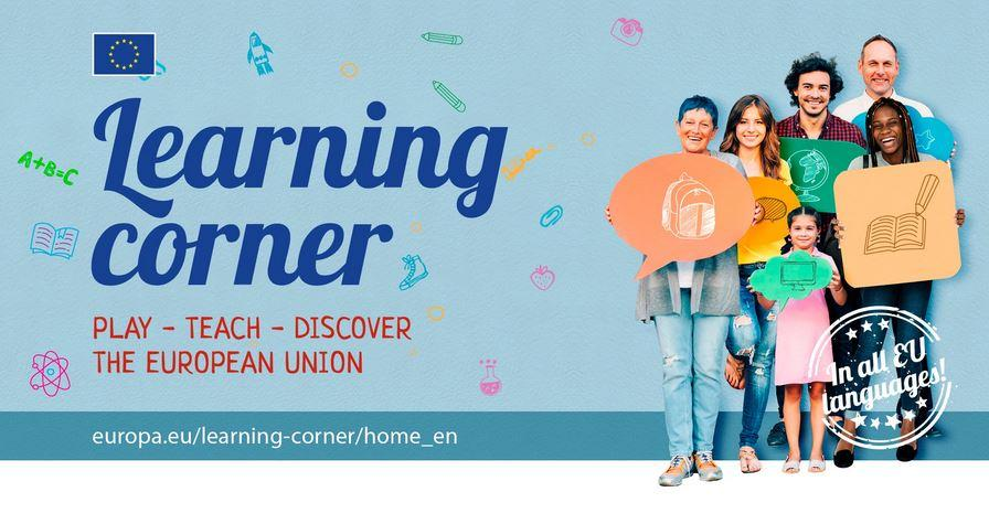 Image promoting the Learning Corner