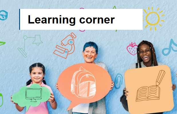 """Image with text """"Learning corner"""""""