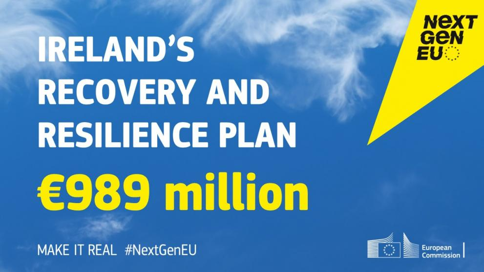Infographic about Ireland's Recovery and Resilience Plan