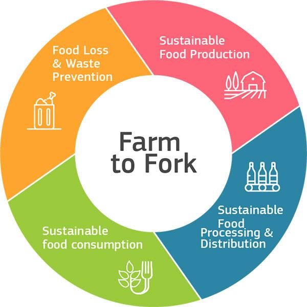 Infographic about the Farm to Fork Strategy