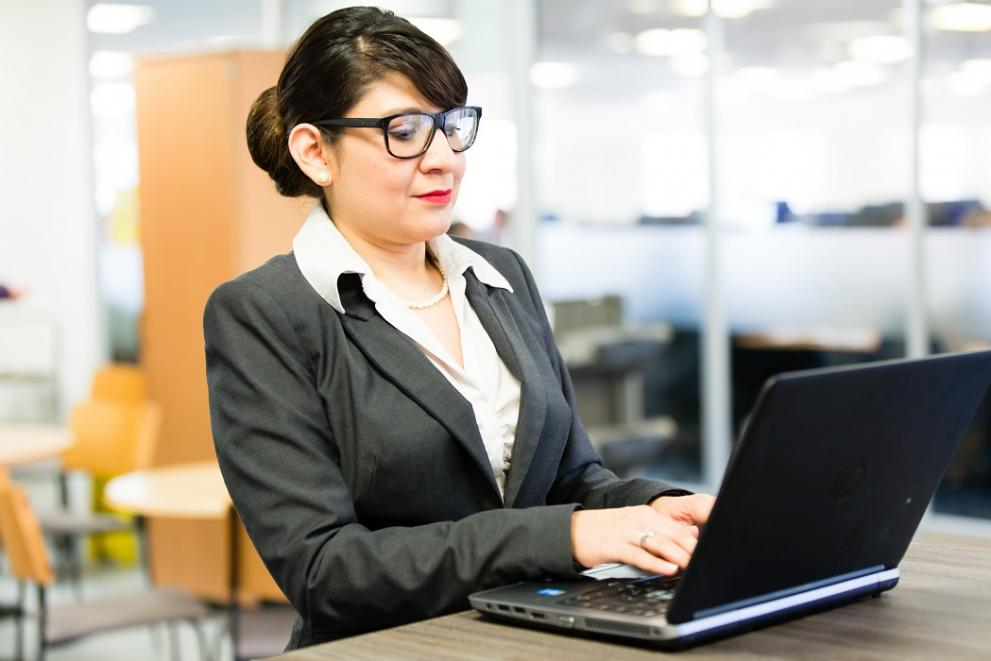 Woman at work in an office